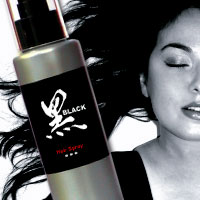 Black Hair Spray - 125ml - Click Image to Close